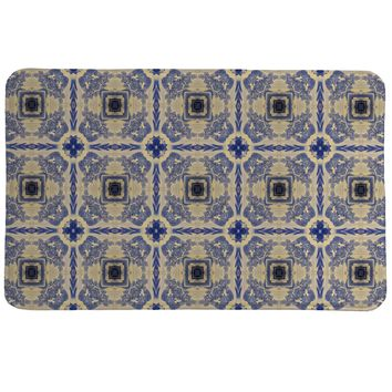 Blue China Revisited Memory Foam Rug