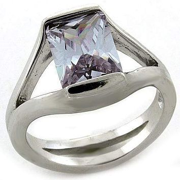 Mens Silver Wedding Ring LOAS1185 Rhodium 925 Sterling Silver Ring with CZ