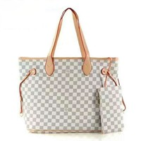 One-nice™ LV Ms. Shopping Leather Handbag Tote Satchel Bag Two-Piece H-LLBPFSH