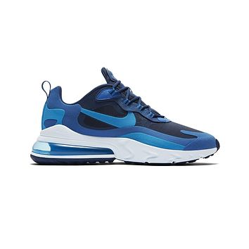 Nike Men's Air Max 270 React Impressionism Art Blue Void