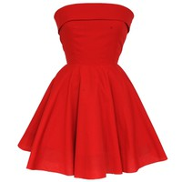 Red Audrey Fifties Style dress | Style Icon`s Closet