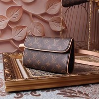 LV Louis Vuitton MONOGRAM LEATHER WAIST PACK CROSS BODY BAG