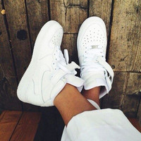 NIKE Women Men Running Sport Casual Shoes Sneakers Air force high tops and Low help shoes HIGH QUALITY