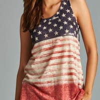 Sublimation American Flag Racerback Top