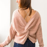 Twist and Pout Fuzzy Sweater