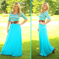 Belt It Out Maxi Dress