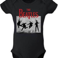 Beatles HELP Jumping Logo Baby Onesuit Size 12 months