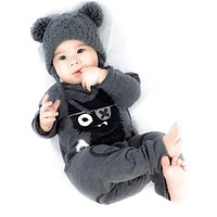 New 2016 baby rompers baby boy clothing cotton newborn baby girl clothes long sleeve cartoon infant newborn jumpsuit