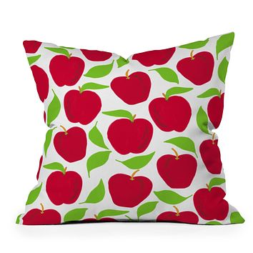Lisa Argyropoulos So Red Delicious Throw Pillow