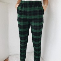 DANNY PLAID PANTS- GREEN