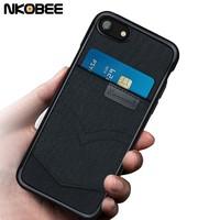 NKOBEE For iPhone 8 Case Wallet Luxury TPU Cover For iPhone 8 Plus Case Luxury Card Holder Funda Coque For iPhone 8plus Case