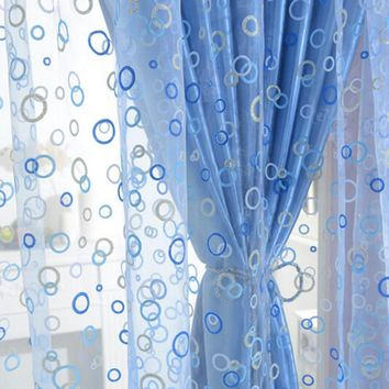 Chic Room Bubble Pattern Voile Window Curtains
