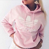"""Fashion """"Adidas"""" Women Hooded Top Pullover Sweater Hoodie"""