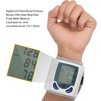 Automatic Digital LCD Wrist Blood Pressure Monitor for Measuring Heart Beat And Pulse Rate