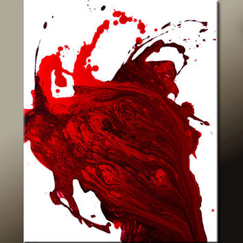 Red Abstract Art Canvas Painting 18x24 Contemporary Wall Art Paintings by Destiny Womack - dWo - Trance