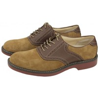 Pomona Two-Tone Buc in Taupe & Dark Brown by G.H. Bass