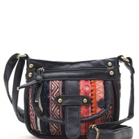 LA Hearts Mini Tapestry Crossbody Bag - Womens Handbags - Multi - NOSZ