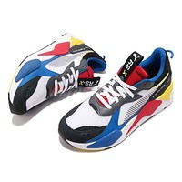 Puma RS-X Toys Running System White Black Blue Red Yellow Men Shoes