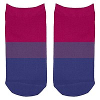 LGBT Bisexual Pride Flag All Over Adult Ankle Socks