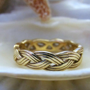 14k James Avery Braided Ring 4.5g Size 7 Rare