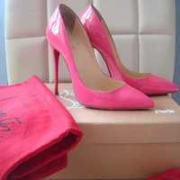CHRISTIAN LOUBOUTIN PIGALLE 120 FOLLIES PINKY 36,5 (6 US) good condition+receipt