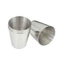 Novelty 35ml Durable Stainless Steel Wine Drinking Shot Glasses Barware Cup LSCA