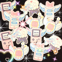 Street Cherub Precious Tech Stickers, Kawaii Stickers, Pastel Goth Stickers, Anime Stickers, Magical Girl Stickers, Tamagotchi