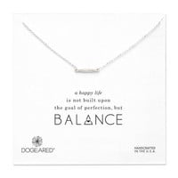 balance faceted bar necklace, sterling silver, 18 inch