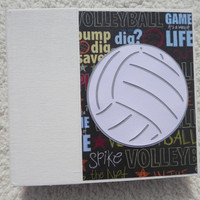 6x6 Volleyball Scrapbook Photo Album