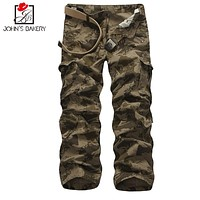 Mens Joggers   Pant 2017 Brand Male Cargo Pants Camouflage Pants Slim  Tights Trousers Compression Men Jogger