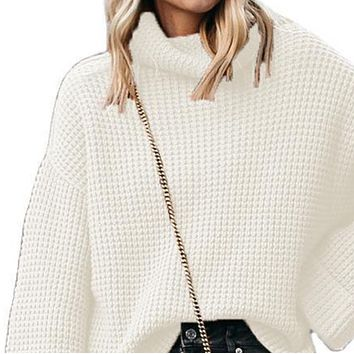 New style hot fashion high neck loose all-match sweater