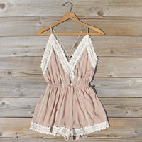Whiskey & Rye Romper in Sand