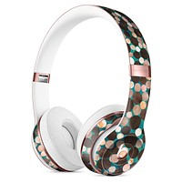 Mixed Brown Watercolor Dots Full-Body Skin Kit for the Beats by Dre Solo 3 Wireless Headphones