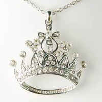 Bling Ice Empress Crown Clear Crys...