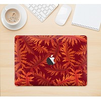 """The Vector Fall Red Branches Skin Kit for the 12"""" Apple MacBook (A1534)"""