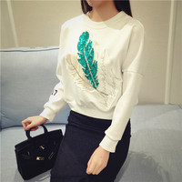 Feather Front Sweater