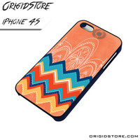 Chevron With Apple Logo Case For Iphone 4/4S Case