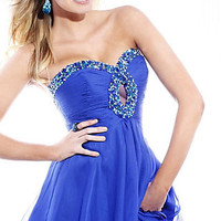 Short Strapless Prom Dress by Sherri Hill