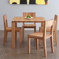 LAXseries Edge Square Table and Dining Chairs