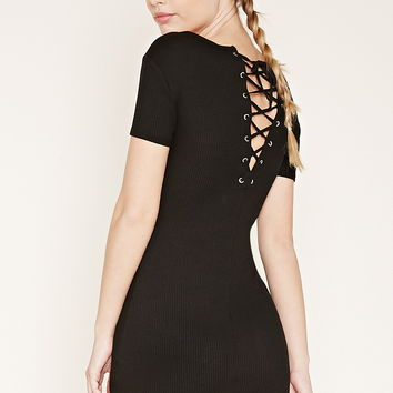 Lace-Up Mini Dress   Forever 21 - 2000176469