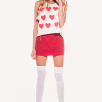 BABY LOVE CHARLIE TANK at Wildfox Couture in  DIONNE, STRAWBERRY ICE
