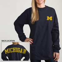 The M Den - League Outfitters University of Michigan Ladies Long Sleeve