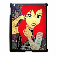 Ariel Little Mermaid Tattoo With Flower Cover iPad 2 Case