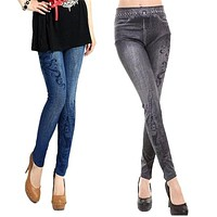 2017 FASHION Sexy Women Jeans Skinny Jeggings Stretchy Slim Leggings Skinny Pants Y91530