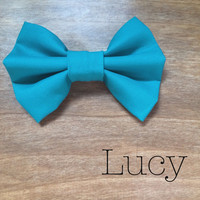 Turquoise Teal Blue Bow
