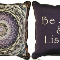 Amethyst Mandala and Be Still - Double-Sided - Pillow