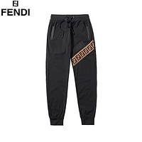 Fendi 2020 new striped webbing strappy casual pants