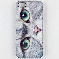Zero Gravity Meow Face Iphone 5 Case Grey One Size For Men 22218311501