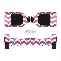 The Dark Pink & White Chevron Pattern V2 Full-Body Skin Set for the Smart Drifting SuperCharged iiRov HoverBoard