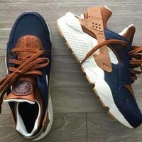 2017 Huarache ID Custom Breathe Running Shoes For Men Women,Woman Mens navy blue tan Air Huaraches Multicolor Sneakers Athletic Trainers